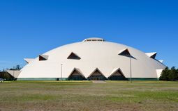 Superior Dome. This is a Spring picture of the Superior Dome, the football stadium for Northern Michigan University located in Marquette, Michigan. The structure royalty free stock image