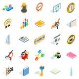 Superior icons set, isometric style Royalty Free Stock Photo