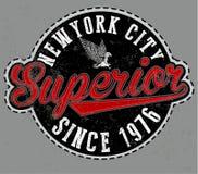 Superior tee graphic vector emblem Royalty Free Stock Photos