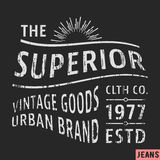 Superior vintage stamp Royalty Free Stock Images