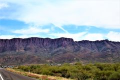 Superiore, la contea di Pinal, città in Arizona fotografia stock libera da diritti