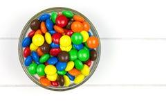 Superiore vista delle caramelle multicolori Fotografie Stock Libere da Diritti