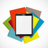 Superiority E-Book Over Paper Books Concept Vector illustration Royalty Free Stock Photos