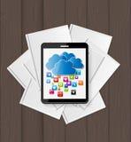 Superiority E-Book Over Paper Books Concept Vector illustration Stock Image