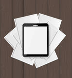 Superiority E-Book Over Paper Books Concept Vector illustration Royalty Free Stock Images