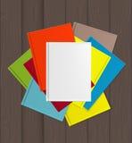 Superiority E-Book Over Paper Books Concept Vector illustration Stock Photos