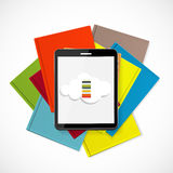 Superiority E-Book Over Paper Books Concept Vector illustration Royalty Free Stock Image