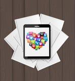 Superiority E-Book Over Paper Books Concept Vector illustration Stock Photography