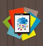 Superiority E-Book Over Paper Books Concept Vector illustration Stock Photo