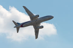 superjet för sukhoi 100 Royaltyfria Bilder