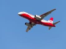 Superjet russe 100-95B Images stock