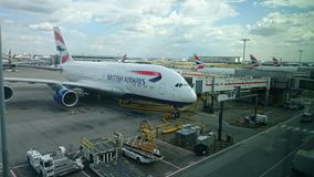 Superjumbo de British airways a380 Airbus Images stock