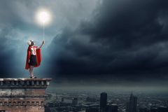 Superkid corajoso Fotografia de Stock Royalty Free