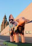 Superlambanana außerhalb des Museums von Liverpool stockbild