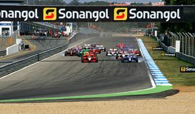SuperLeague Formel Lizenzfreie Stockfotos