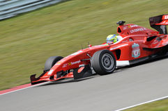SuperLeague Formula liverpool fc. Driver James Walker for the Liverpool FC Superleague Formula race team underway in race 2 of round 2, Assen 2010 Royalty Free Stock Photos