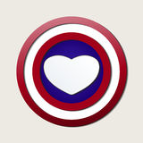 Superlove heroes shield Royalty Free Stock Image