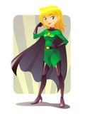 Supermädchen Stockbild
