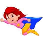 Supermädchenkarikatur Stockbild