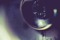 Supermacro av kameradetaljer Royaltyfri Fotografi