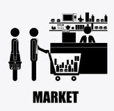 Supermaket, desing, vector illustration. Royalty Free Stock Image