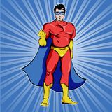 Superman In Blue Mask Royalty Free Stock Photography