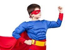 Superman. Child superman costume isolated on white background stock photos