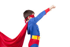 Superman. Child superman costume isolated on white background royalty free stock photos