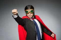 Superman concept with man Royalty Free Stock Photo