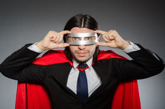 Superman concept with man Royalty Free Stock Photos