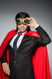 Superman concept with man Royalty Free Stock Photography