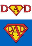 Superman dad Royalty Free Stock Image
