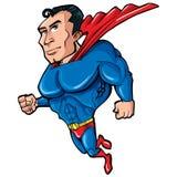 Superman dos desenhos animados com caixa enorme Imagem de Stock Royalty Free