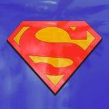 Superman emblem hero sign Stock Photo