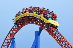 Superman Escape in Movie World Gold Coast Queensland Australia stock image