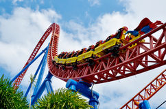 Superman Escape in Movie World Gold Coast Queensland Australia stock images