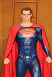 Superman. Figure on display as a promotion for the movie Batman v : Dawn of Justice in Hong Kong Royalty Free Stock Image