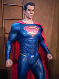 Superman. Figure on display as a promotion for the movie Batman v : Dawn of Justice in Hong Kong royalty free stock photography