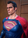 Superman. Figure on display as a promotion for the movie Batman v : Dawn of Justice in Hong Kong Royalty Free Stock Images