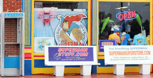 Superman Gift Shop. A Superman gift shop in Metropolis Illinois, the home of Superman Royalty Free Stock Photos