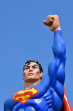 Superman. GOLD COAST, AUS - NOV 20 2014:Superman.He's a comic book superhero published by DC Comics.He is an American cultural icon and has been labeled as the Stock Photos