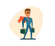 Superman with money Stock Photography