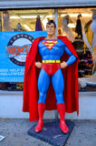 Superman. NEW YORK OCTOBER 27:Superman mannequin in front costume store on october 17, 2013 in NY. Superman character was created by Jerry Siegel and Joe Shuster royalty free stock photography