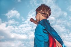 Superman pequeno Foto de Stock Royalty Free