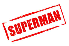 Superman rubber stamp. On white background Royalty Free Stock Image