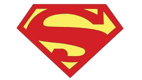 Superman S insignia Action Comics no. 1 2011. S symbol/ insignia design of DC comics superhero character Superman from Action Comics issue no.1 2011 stock illustration