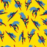 Superman Seamless Pattern Vector Illustration Royalty Free Stock Photography