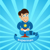 Superman Vector. Vector superman superhero vector illustration Royalty Free Stock Photo
