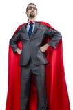 Supermann getrennt auf dem Weiß lizenzfreie stockbilder