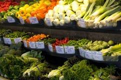 Supermarché d'épicerie de légumes frais photo stock